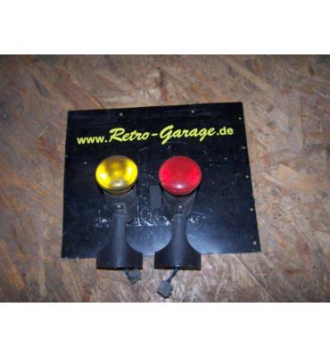 Retro Lampe rot oder gelb