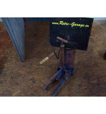 Retro Fettpresse inkl. Druckluftanschluss